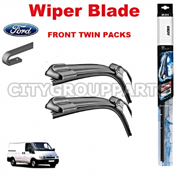 "FORD TRANSIT MK5 2000 TO 2006 AERO FLAT WIPER TWIN PACK BLADE 695MM 28"" & 605MM 24"""